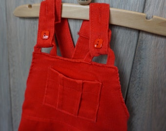 1970s Red Healthtex Overalls - Size 9 months
