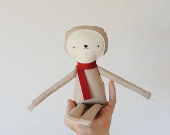Handmade Rag Doll Sloth plush doll toy child friendly Stuffed animal