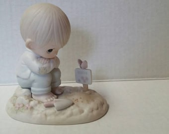"""Vintage Precious Moments Figurine """"In His Time"""" 1987 Collectibles Figurines Knick Knacks Enesco Porcelain"""