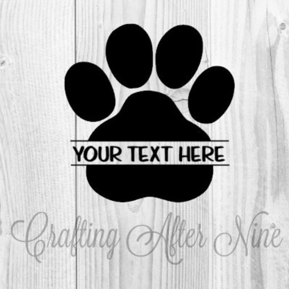 Download Paw Print SVG Cut Files Seperated Paw Print SVG Screen