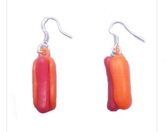 Earrings hot dog