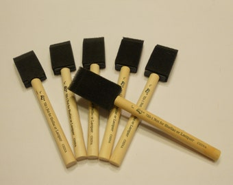6 foam brushes, 1 inch