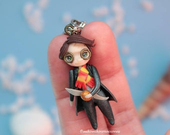 HARRY POTTER - Necklace - polymer clay - fimo - snitch - hermione - ron weasley - luna lovegood - dobby - howarts - gryffindor - voldemort