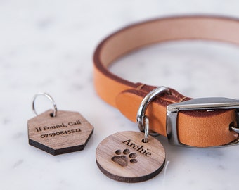 Personalised Paw Pet Tag - Wooden Pet Tag - Custom Pet Tag - Pet Accessory - Gift for Pet Owner - Pet Lover Gift - Dog Lover Gift