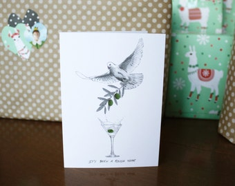 Greeting card : It's been a rough year.