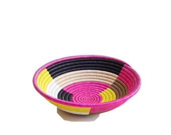 Multicolored African basket