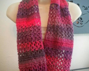 Crochet Pattern: Lacy Bella Loop Scarf