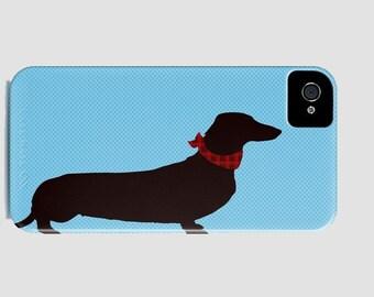 Dachshund Dog on Phone Case -  Dog Gift Ideas, iPhone 6S, iPhone 6 Plus, Dachshund Gifts, Samsung Galaxy S6 , iPhone 8