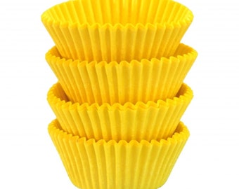 Yellow Baking Cups - Standard Size