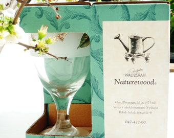 Pfaltzgraff Naturewood Ice Tea Goblets 16 oz New In Box