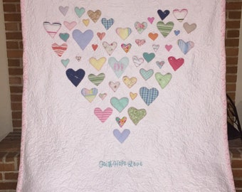 Heart Baby Clothes / Memory Quilt  - Fully Customizable