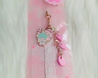 Little twin stars phone strap charm pastel kawaii