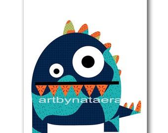 Monster Nursery Art Baby Nursery Decor Printable Decor Baby Boy Nursery Print Digital Print Printable Wall Art 8x10 11X14 INSTANT DOWNLOAD