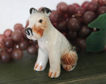 "Adorable Fox Terrier Dog 3"" Ceramic Figurine in Excellent Condition!"