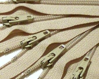 YKK Zippers 36 Inch Coil Zips- Beige 572- 5 Pcs nude khaki neutral tan