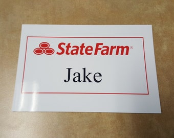 picture about Jake From State Farm Name Tag Printable identified as Classic Colourful Primitive Structure Farm Plate