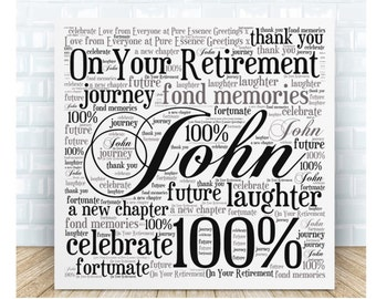 On Your Retirement Ceramic Plaque. Personalised Gift