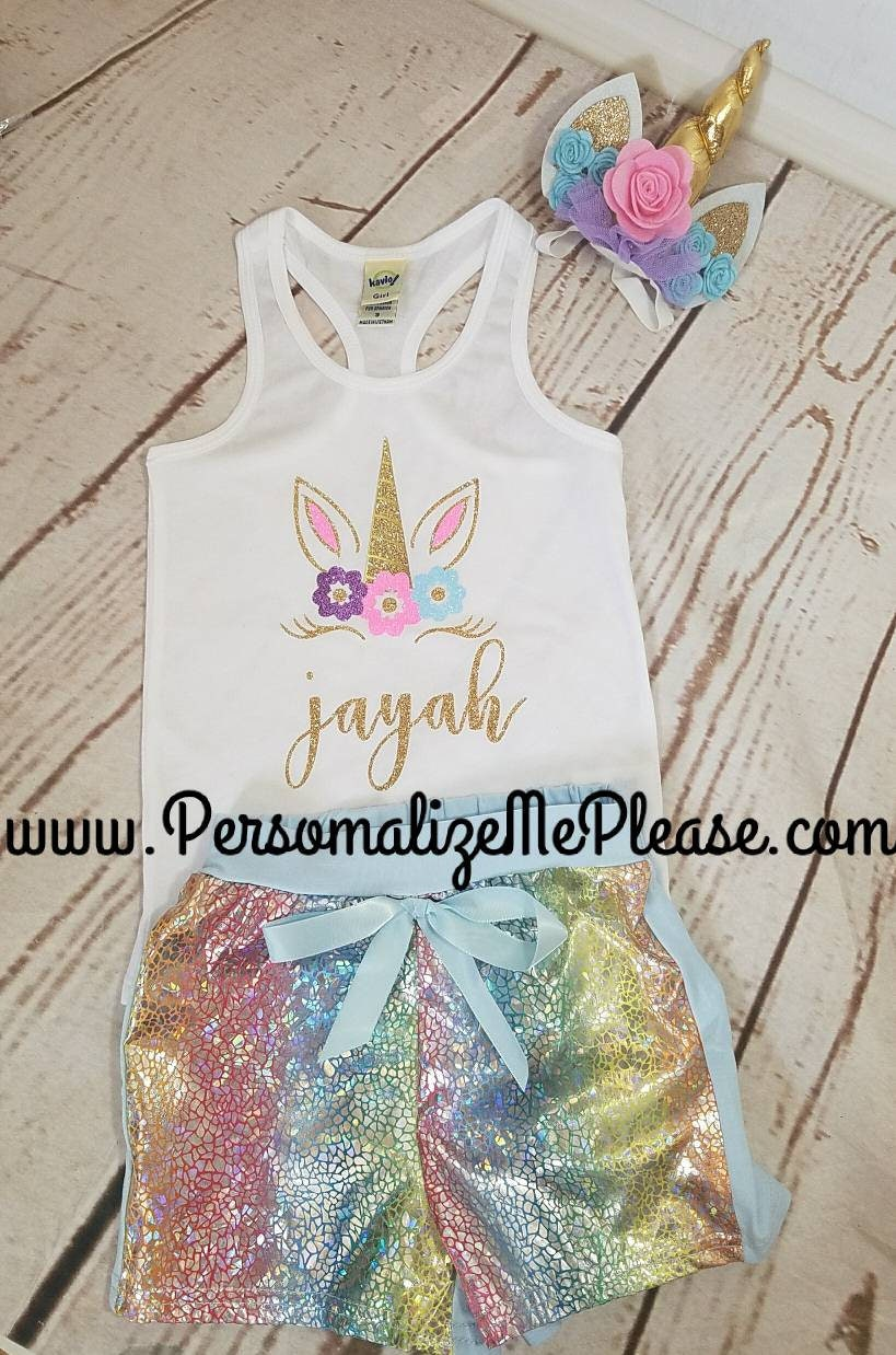Unicorn Birthday Outfit Birthday Tank Top Unicorn Tank Top