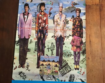 "TALKING HEADS EMI Records 1985 ""Little Creatures "" Original Rare Vintage Music Poster"