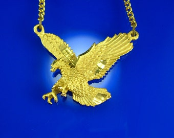Gold eagle jewelry Etsy