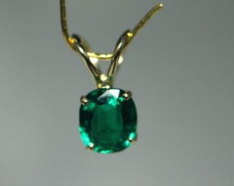 Emerald Pendant 14k