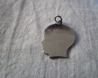 Vintage Sterling Silver Silhouette Boy Charm Bracelet Charm - Ready to be Engraved!