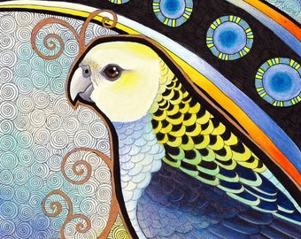 Pale Headed Rosella as Totem - Original Art