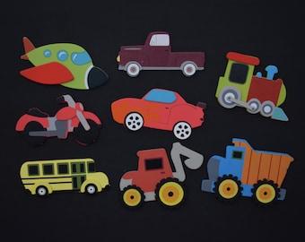 Planes, Trains, and Automobiles Magnet Set