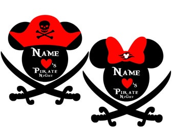 Personalized We Love Pirate Night Inspired Magnet for Disney Cruise Decor with your Name. Pirate Disney Cruise Line Stateroom Door Magnet