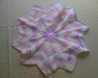 Pretty in Pastel round wave design Baby Blanket