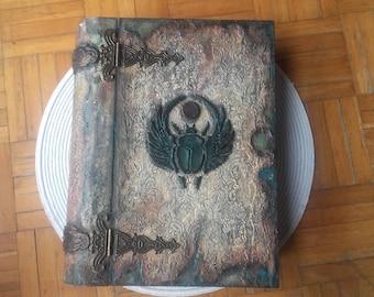 Book of shadows, Book of spells, Old Egyptian Myths, Ancient Egyptian Mythology, Scarab beetle, Egyptian scarab beetle book box Dung beetle