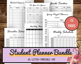 Nursing Student Planner, College Student Planner, Student Planner 2018, Academic Planner, Back to School, 2018 Sesmester, Planner University