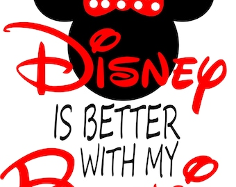 Disney is better with my bestie best friends sisters minnie mouse SVG