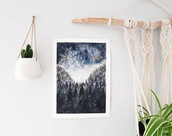 Dark Forest - Original Watercolour Painting