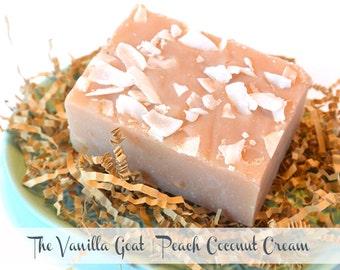 Peach Coconut Cream Soap Bar