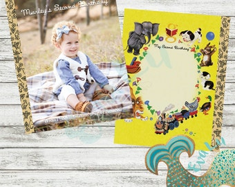 Golden Book Birthday | Baby Shower | Birthday | Custom Invitation | Party Decor | Thank You Card | Photo Invitation | Sign