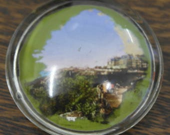 vintage galss paper weight from folkstone