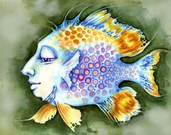 Portrait of a Lovely Fish, Greeting Card
