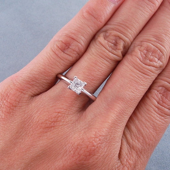 1 Carat Princess Cut Diamond Ring 1 Carat Solitaire