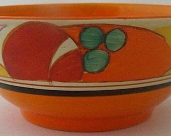 Clarice Cliff Bizarre Fantasque Melon Bowl - Art Deco