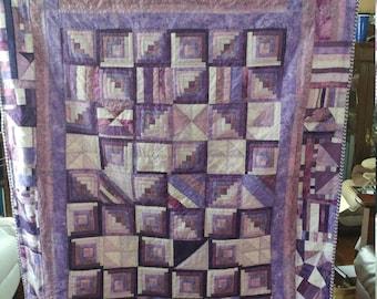 Purple cotton quilt