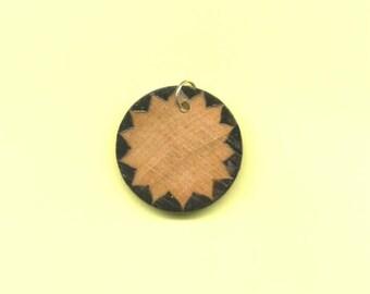 Starburst Wood Pendant