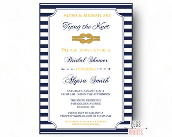 Nautical Bridal Shower Invite Printable Nautical Bridal