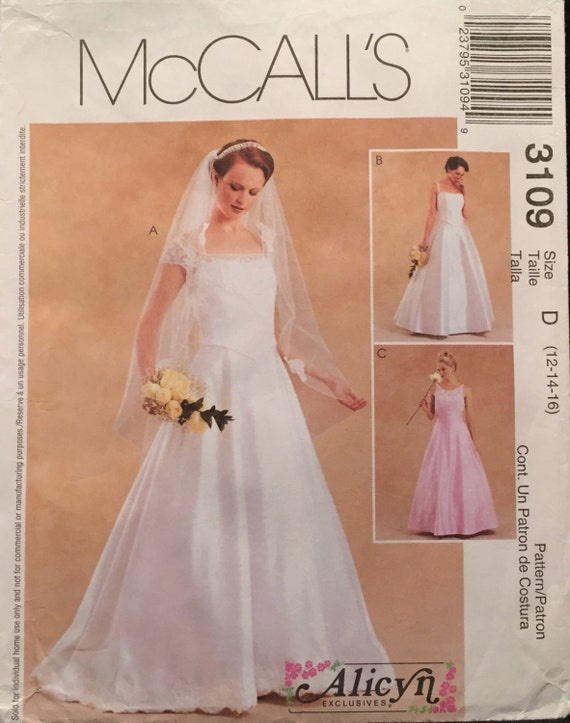 McCalls Alicyn Wedding, Evening, Bridesmaid, Prom Dress, Bustier ...