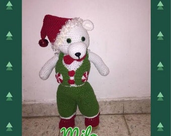 the Christmas bear in the evening tutorials Milo
