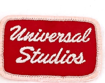 Vintage Universal Studios Patch Hollywood Movies Pink Red Cursive
