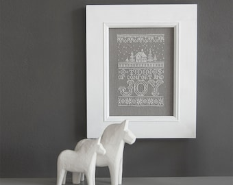 O Tidings of Comfort and Joy - Counted Cross-Stitch Pattern  - Instant Download PDF Pattern