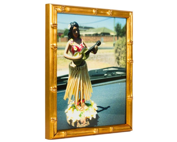 Craig Frames, 22x28 Inch, Vintage Gold Bamboo Picture Frame, .625 ...