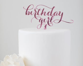 Birthday Girl : Cake Topper