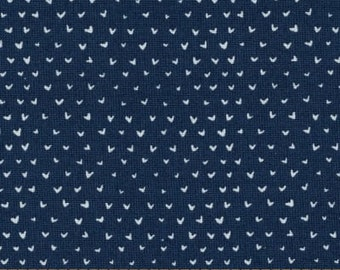 Dear Stella Dress Me for the Playground Mini Hearts Navy Fabric